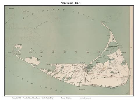 nantucket map town maps of nantucket