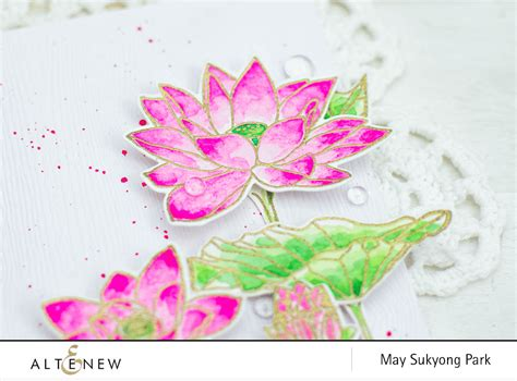 watercolor lotus tutorial altenew blog page 17 of 71 inspiring crafters with