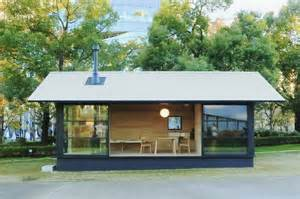 Awning Extension For Rv Muji Unveils Tiny Pre Fabricated Huts At Tokyo Design