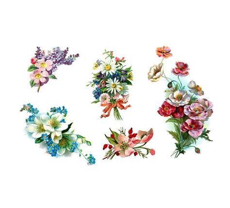 vintage floral tattoo vintage flowers floral pack 5 temporary tattoos