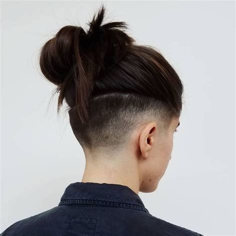womens haircut with short sides 25 best ideas about women s shaved hairstyles on