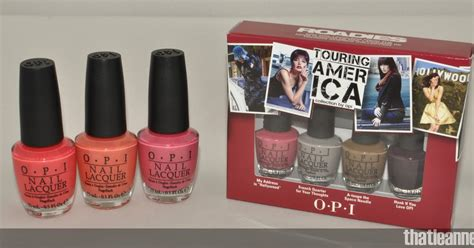 Opi Mini Touring America thatleanne opi touring america swatches and some mummy
