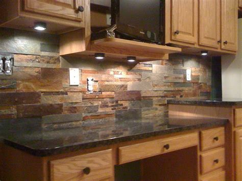 stone tile kitchen backsplash stone backsplash tile ideas home design ideas