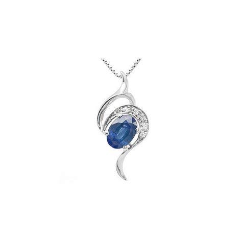 1 carat solitaire sapphire necklace pendant for