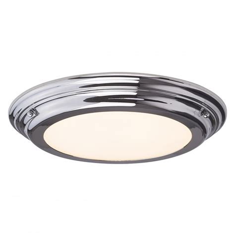 led flush fitting bathroom ceiling light opal glass with chrome ring sleek flush fitting led bathroom ceiling light chrome with opal glass