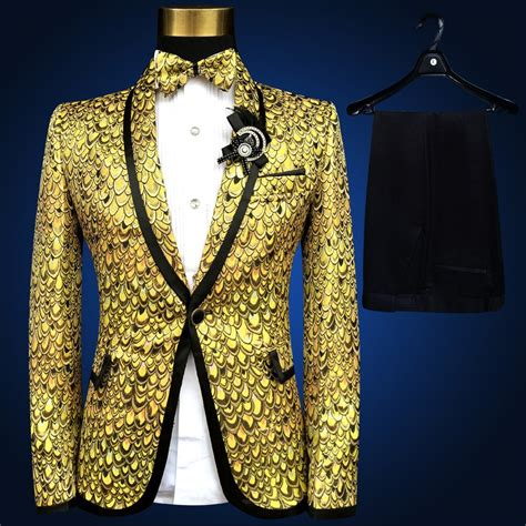 gold suit lastest coat pant design pus size xl xl xl