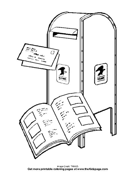 free coloring pages of mail carrier