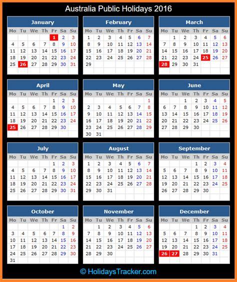 australia public holidays  holidays tracker