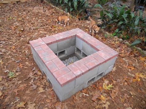 pit made from cinder blocks cinder block pit plans pit ideas