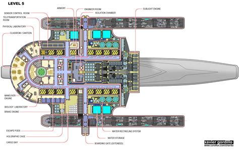 starship floor plan eight 297 accurate oberth class schematics page 7 the trek