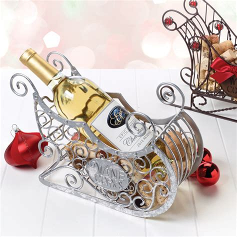 silver sleigh cork cage bottle holder