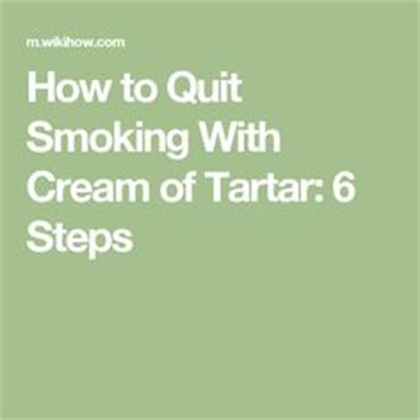 Of Tartar For Nicotine Detox by Best Tartar Recipe On