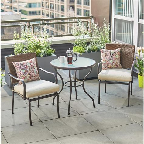 Bistro Sets Patio Dining Furniture The Home Depot Outdoor Patio Table Set