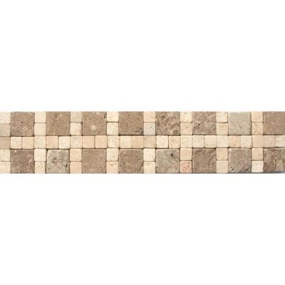 travertine tile home depot ms international cornerless travertine border 3 in x 12