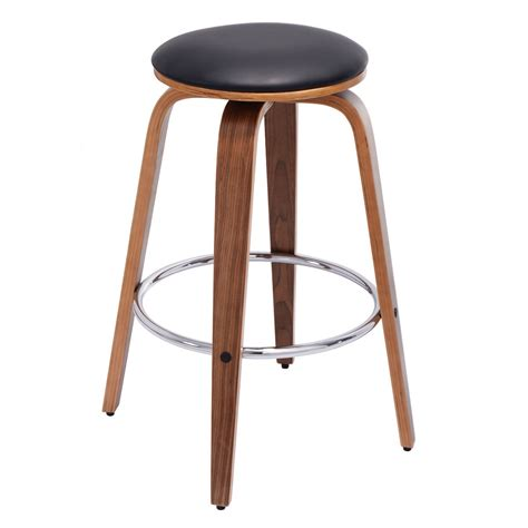 Leather Bistro Chairs Set Of 2 Swivel Bentwood Bar Stool Pu Leather Modern Barstools Bistro Pub Chair