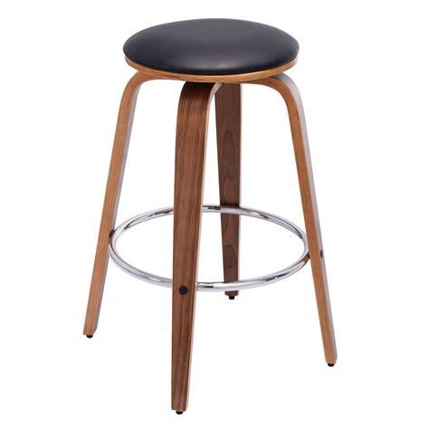 bent wood bar stool set of 2 swivel bentwood bar stool pu leather modern