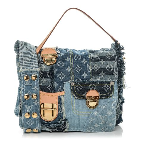Patchwork Louis Vuitton - louis vuitton denim patchwork posty messenger bag blue 187785