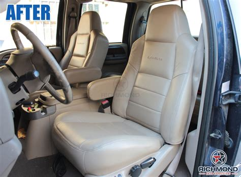 ford   lariat leather seat cover driver lean  gray richmond auto upholstery
