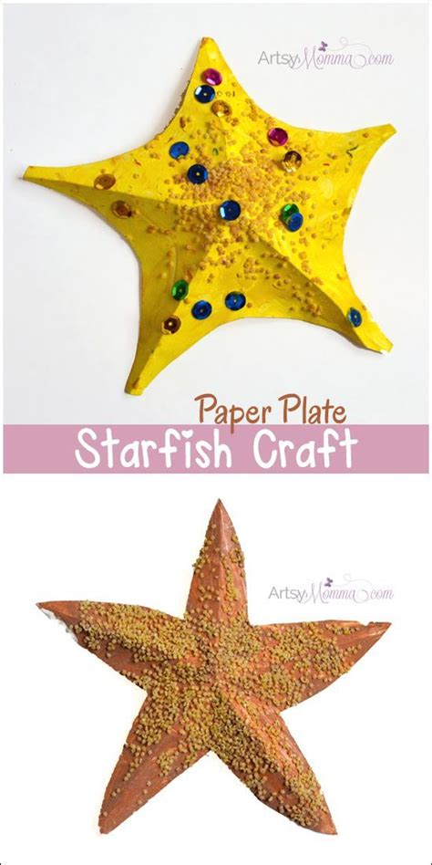 How To Make Starfish With Paper - best 25 starfish crafts ideas on theme