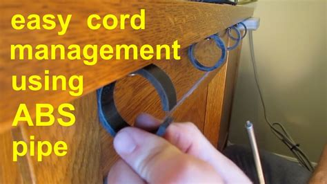diy simple cable cord management tv computer stereo gaming