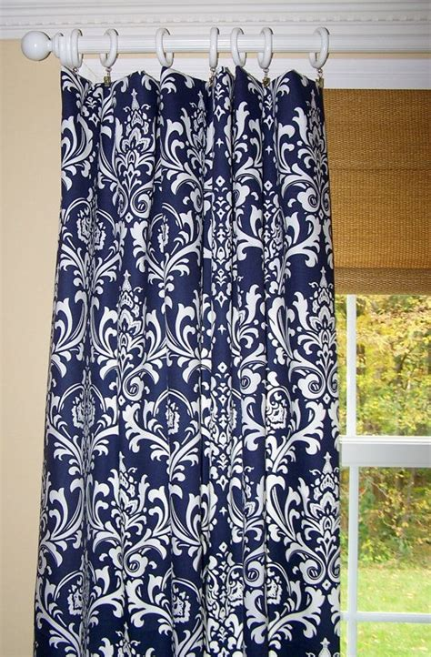 navy blue damask curtains 25 best ideas about navy blue curtains on pinterest