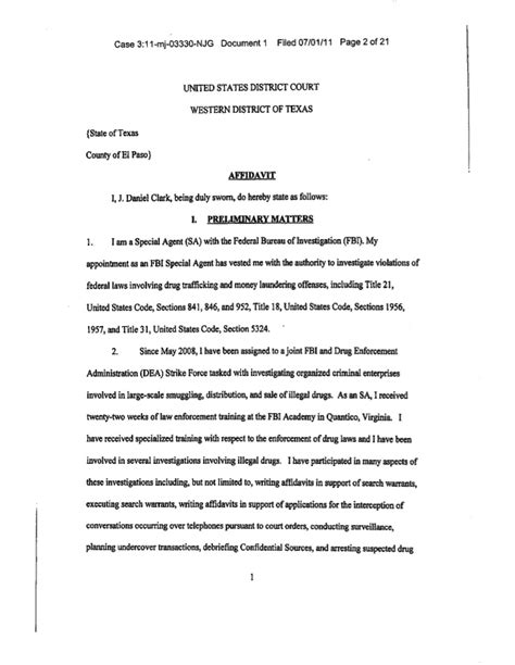Title 21 United States Code Section 846 by Blind Mule Indictment