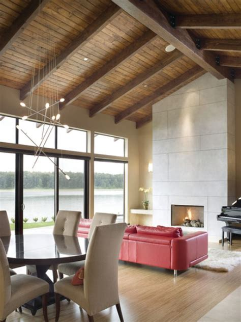 exposed beam ceiling stylish decors featuring warm rustic beautiful wood ceilings