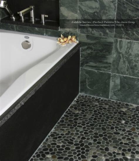grey pebble tiles bathroom islandstone pebble series perfect pebble tile java grey