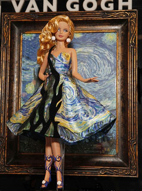 painting and dress up barbies dress up like paintings flavorwire