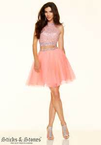 Sticks and stones 9365 two piece tulle prom dress madamebridal com