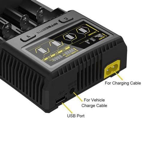 Nitecore Vapor Baterai Charger Lcd Single Slot Fast Charging nitecore sc4 4 slot intelligent superb charger