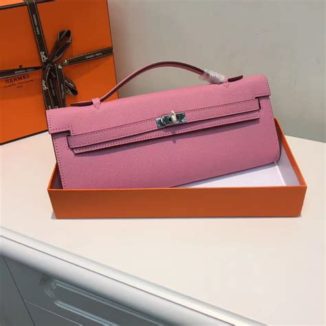 Hermes Cut Clutch Epsom Leather Mirror Quality hermes cut 31cm epsom leather clutch pink 189 00