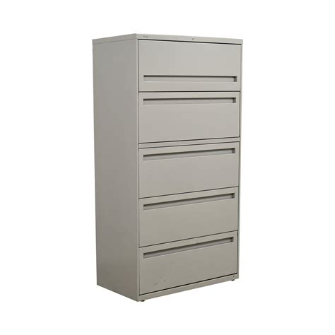 80 Hon Hon White Five Drawer Lateral File Cabinet