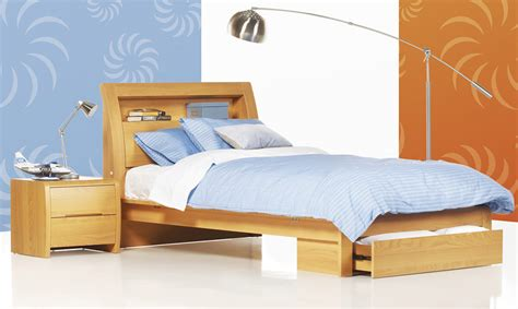 benton beech timber king single bed bedshed