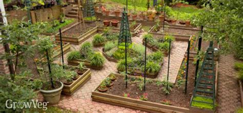 Potager Garden Layout A Potager Garden With Flowers And Vegetables Combined
