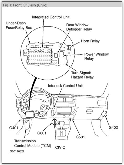 1997 honda civic horn wiring diagram free