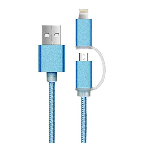 Kabel 2 In 1 Android Iphone Dual Micro Usb 8 Pin Port tablets cuitan bei i tec de