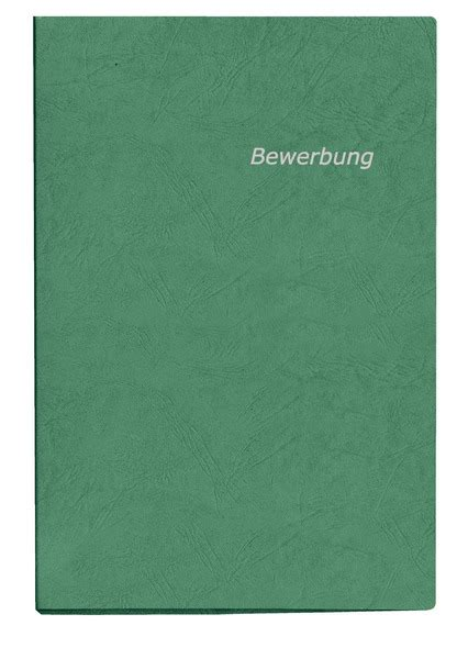 Bewerbung Hobbys Filme Presentation Folder A4 Green For Application Documents Veloflex