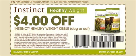 fromm dog food coupons printable instinct healthy weight printable cat food coupons cat