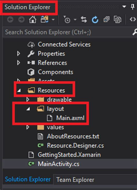 xamarin layout folders xamarin android horizontal and vertical view in linear