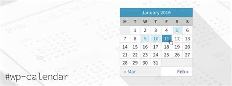 css calendar tutorial better wordpress calendar widget css styles sass exles