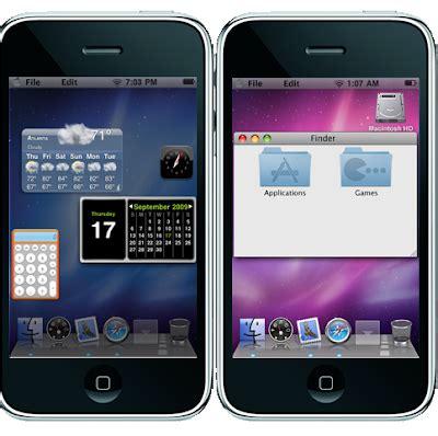 mudar layout iphone geek louco temas do leopard snow para iphone