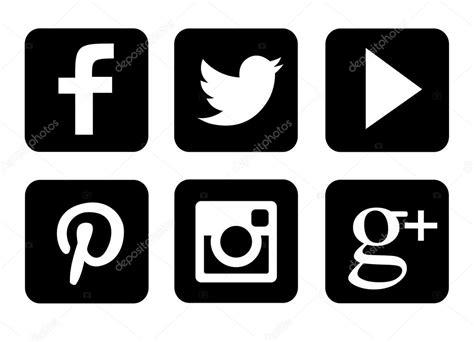 imagenes de redes sociales blanco y negro blanco y negro conjunto de iconos sociales m 225 s populares