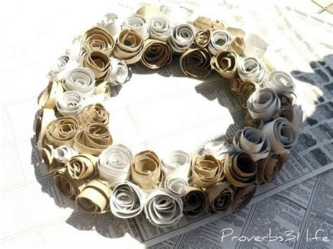 Toilet Paper Roll Wreath Craft - toilet paper roll crafts archives hackshaw lil