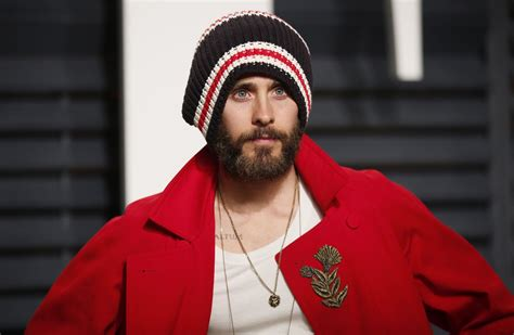 Jared Leto Vanity Fair by Jared Leto Wears A Gucci Coat And Shoes At The