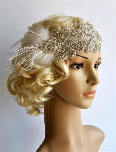 1920 s flapper tutorial diy vintage inspired headband rhinestone flapper gatsby headband wedding headband