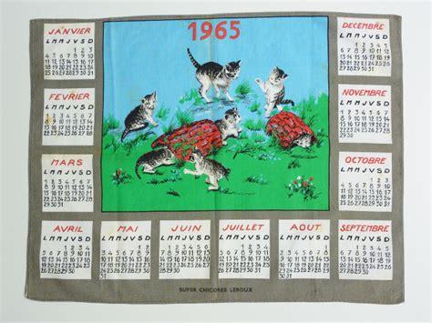Calendrier De 1965 Torchon 1965 Feeb S Shop