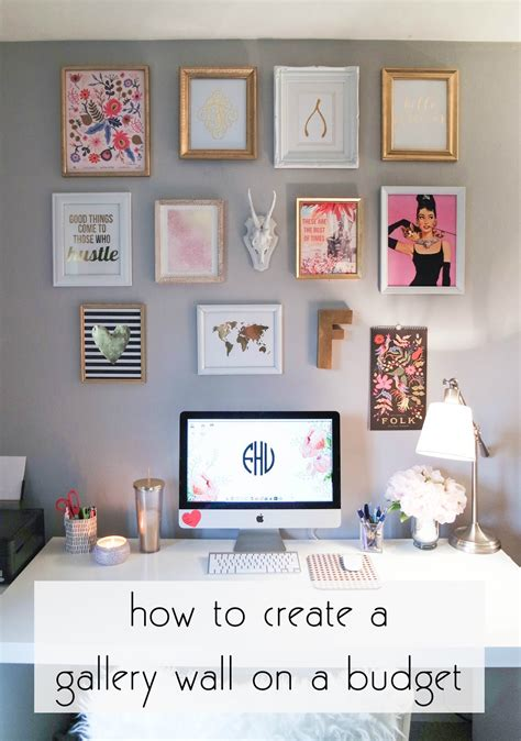 how to decorate home in low budget franish creating a gallery wall on a budget