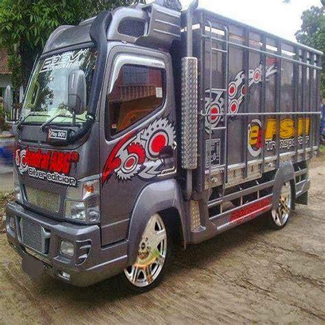 gambar foto gambar full variasi truk canter terbaru