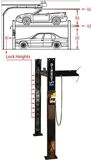 garage height for car lift decor23